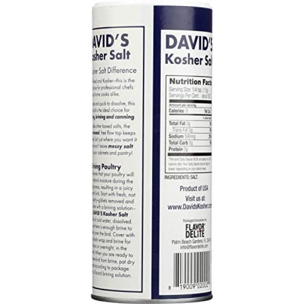 Davids Kosher Salt, 16-Ounce Canisters Pack of 6