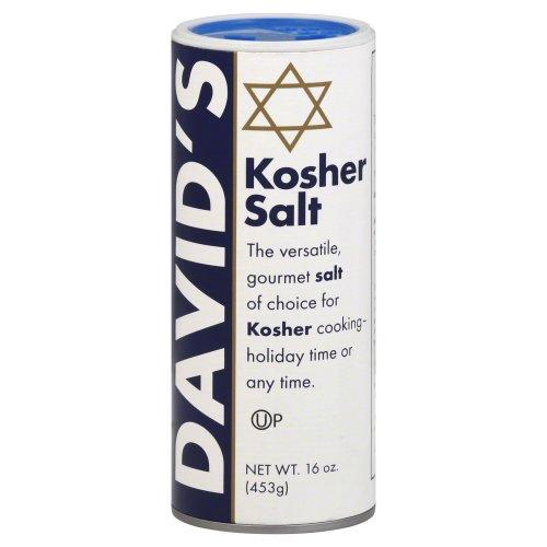 Davids Kosher Salt Canister 16.0 OzPack of 3