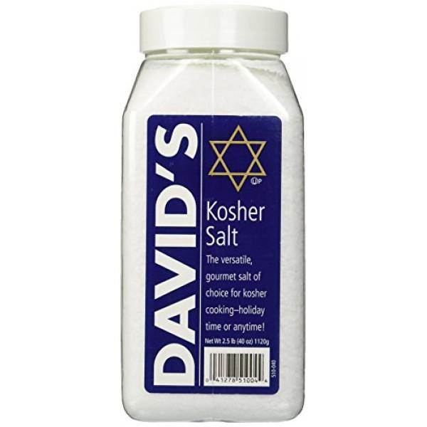 Davids Kosher Salt 2.5 Pounds 40 Ounces