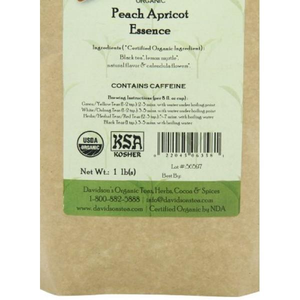 Davidsons Tea Bulk, Peach Apricot Essence, 16 Ounce