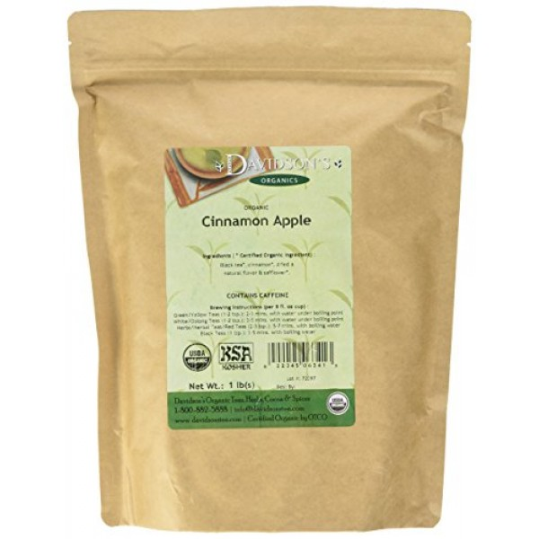 Davidsons Organic Tea Bulk, Cinnamon Apple, 16-Ounce Bag
