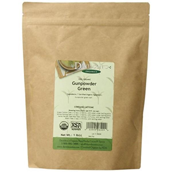 Davidsons Tea Bulk, Gunpowder Green, 1-Pound Bag