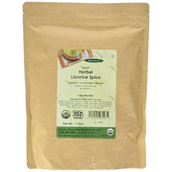 Davidsons Tea Bulk, Herbal Licorice Spice, 16 Ounce