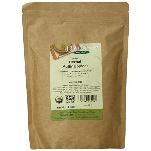 Davidsons Tea Bulk, Loose Mulling Spice, 16-Ounce Bag