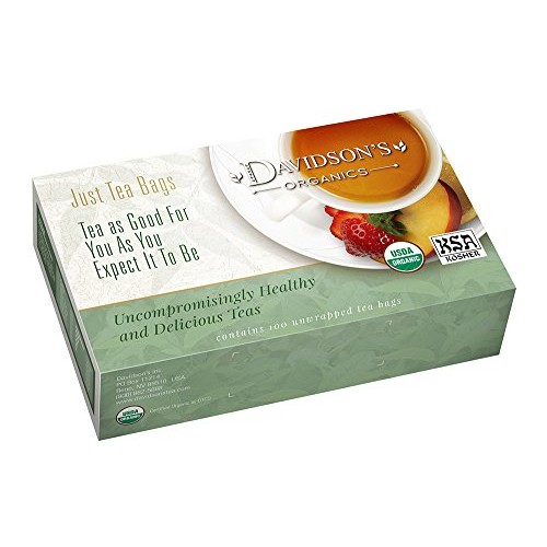 Davidsons Tea White Orange with Clove, 100-Count Tea Bags