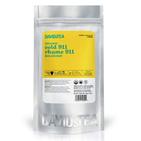 DAVIDsTEA Organic Cold 911 Relaxing Herbal Loose Leaf Tea for Co...