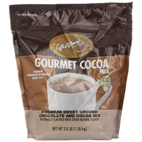 Caffe DAmore Epicurean Sweet Ground Chocolate, 3-Pound Package