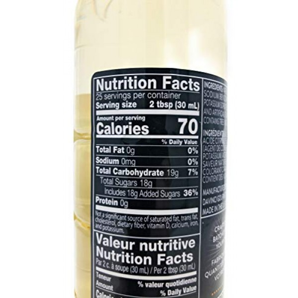 DaVinci Gourmet Classic Macadamia Nut Syrup, 750 mL Plastic Bottle