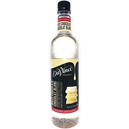 DaVinci Gourmet Classic White Chocolate Syrup, 750 mL Plastic Bo...