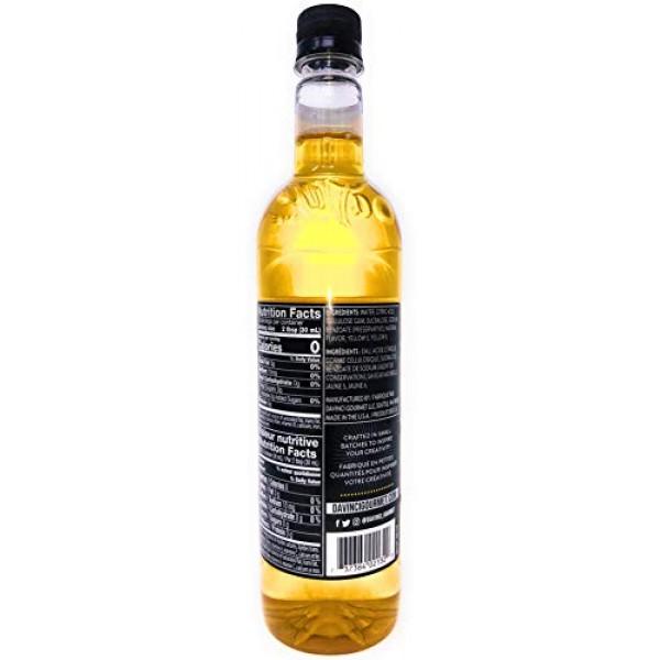 DaVinci Gourmet Sugar Free Pineapple Syrup, 750 mL Plastic Bottle
