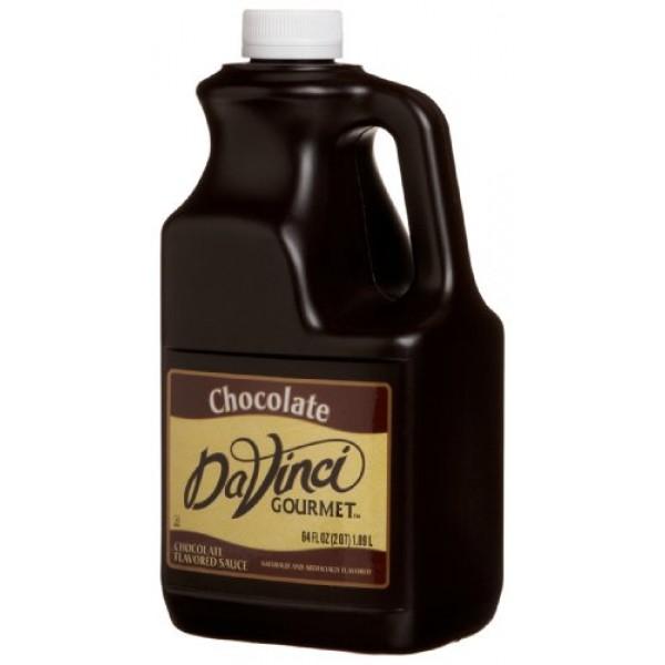 DaVinci Gourmet Sauce, Chocolate, 64-Ounce Jugs Pack of 6
