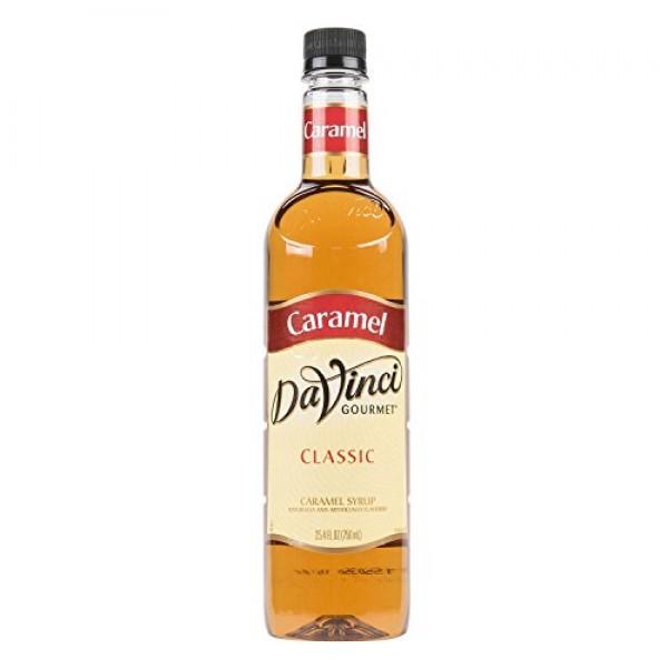 DaVinci Gourmet Classic Syrup, Caramel, 25.4-Ounce Bottles Pack...