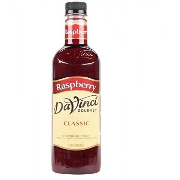 DaVinci Gourmet Classic Syrup, Raspberry, 25.4-Ounce Bottles Pa...