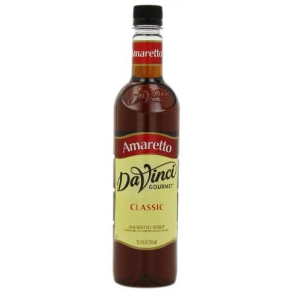 DaVinci Gourmet Classic Syrup, Amaretto, 25.4-Ounce Bottles Pac...