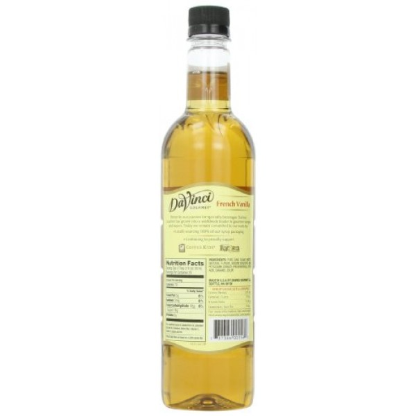 DaVinci Gourmet Classic Syrup, French Vanilla, 25.4 Ounce Pack ...