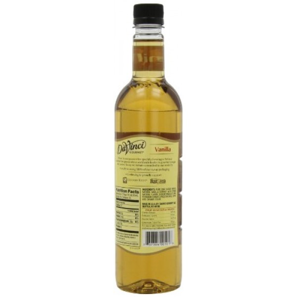 DaVinci Gourmet Classic Syrup, Vanilla, 25.4 Ounce Pack of 3