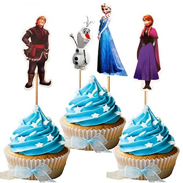 Dawei 24pcs The new Princess Cupcake Toppers for Birthday Party ...