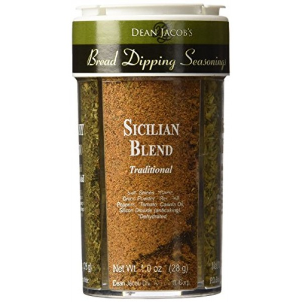 Dean Jacobs Bread Dipping Seasonings, Large, 4.0-Ounce 4 Spice ...