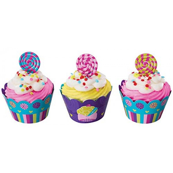 1 X Sweet Candy Cupcake Wraps 24-Pack