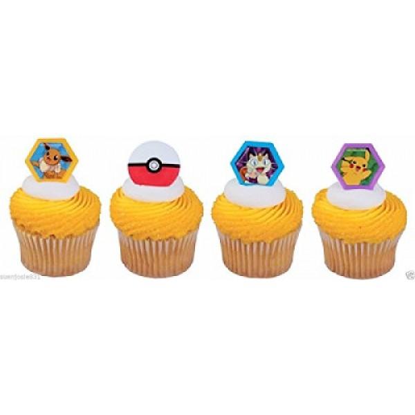 24 pokemon i choose you cupcake rings cake toppers