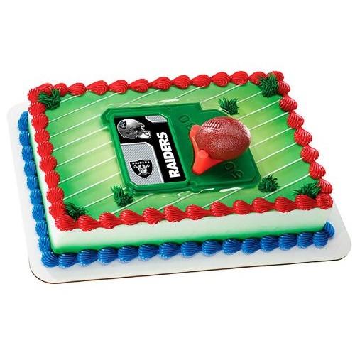 NFL Oakland Raiders Football with Tee-Cake Decorating Kit