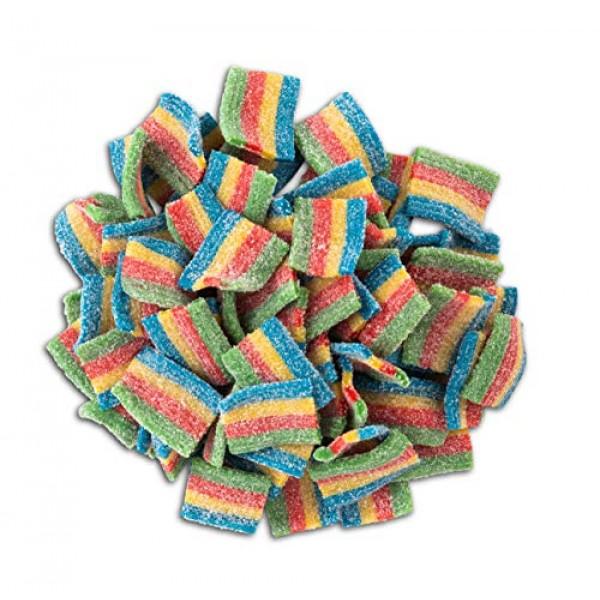 Dee Best Sour Bites Rainbow Sour Belts Belts Pieces 35.2 Oz Bulk...