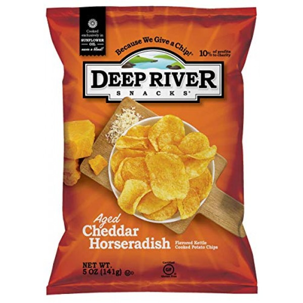 Deep River Snacks Aged Cheddar Horseradish Kettle Cooked Potato ...