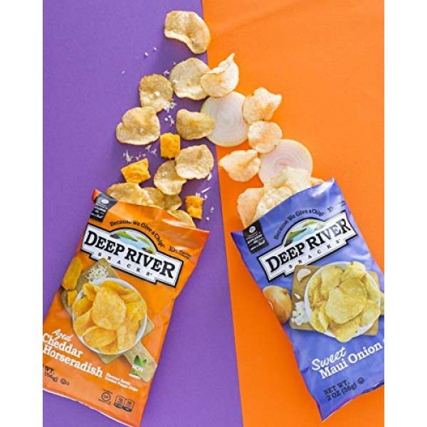 Deep River Snacks Sweet Maui Onion Kettle Cooked Potato Chips, 5...