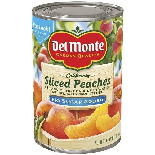 Del Monte Sliced Peaches Yellow Cling Peaches Packed in Water, A...