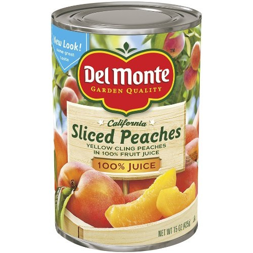 Del Monte Sliced Peaches Yellow Cling Peaches in 100% Real Fruit...