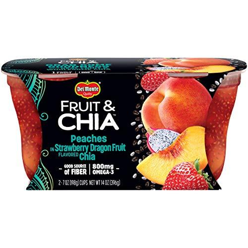 Del Monte Fruit & Chia Snack Cups, Peaches in Strawberry Dragon ...