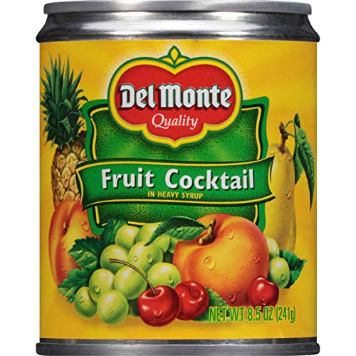 Del Monte Canned Fruit Cocktail in Heavy Syrup, 8.5-Ounce Pack ...