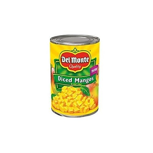 Del Monte Diced Mangos in Light Syrup Pack of 3 15 oz Cans