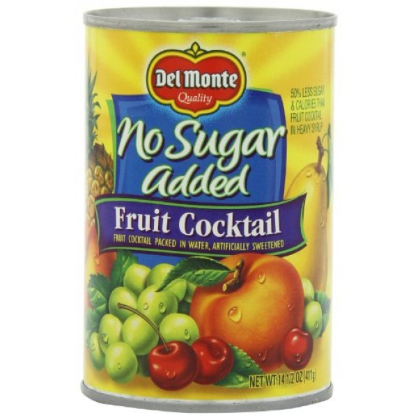 Del Monte Fruit Cocktail Packed in Water, Artificially Sweetened...