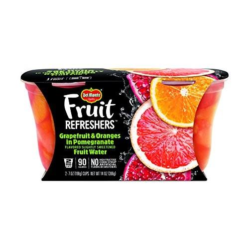Del Monte Fruit Refreshers Snack Cups, Grapefruit & Oranges in P...