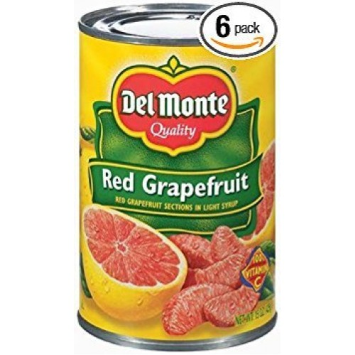 Del Monte Red Grapefruit Sections in Light Syrup 15oz Can Pack ...