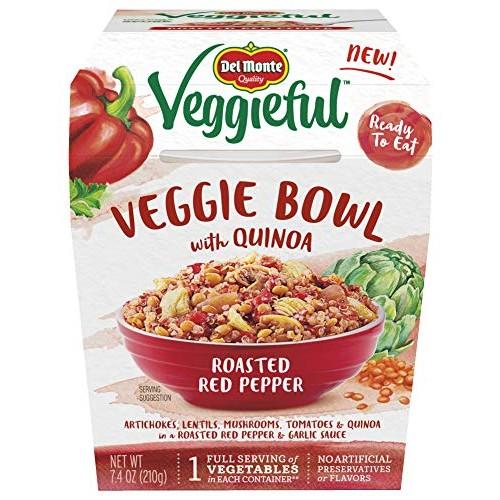 Del Monte Veggieful Roasted Red Pepper Veggie Bowl - 7.4-Ounce Bowl