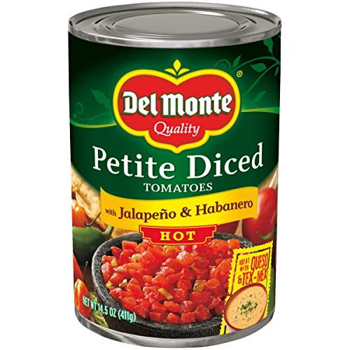 Del Monte Petite Diced Hot Tomatoes with Jalapeno & Habanero, 14...