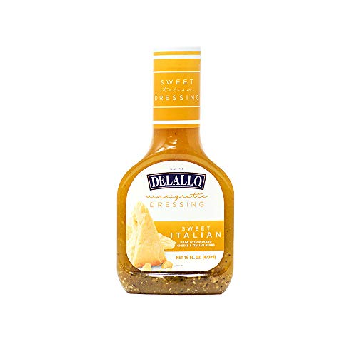 DeLallo Sweet Italian Dressing with Romano Cheese, 16-Ounce Unit...