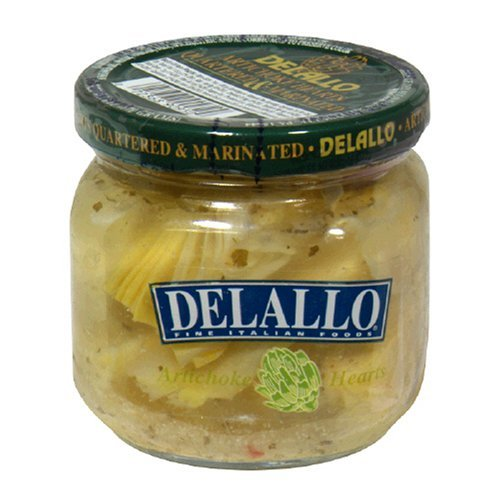 Delallo Artichoke Hearts Quartered & Marinated 6 Oz Pack of 3