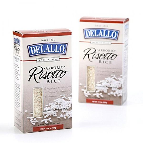 DeLallo Risotto Aborio Rice, 17.6-Ounce Units Pack of 12