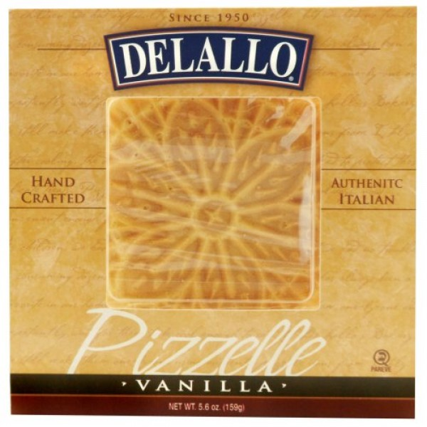 DeLallo Vanilla Pizzelle, 5.6-Ounce Units Pack of 6