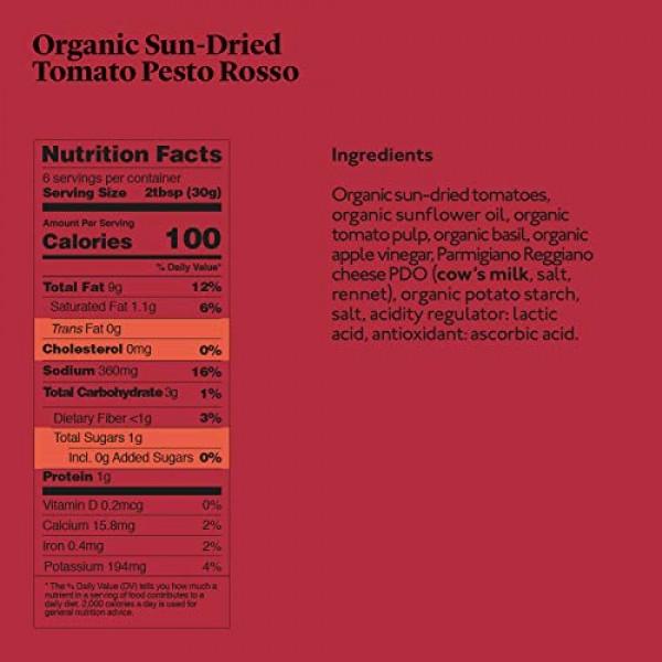 Delicious & Sons Organic Sun-Dried Tomato Pesto Rosso 6.70 oz P...