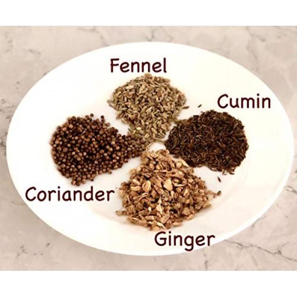 Ayurvedic Detox Cumin, Coriander and Fennel Tea with Infuser - O...
