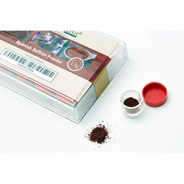Delitaliana Spanish Saffron Powder 1.5-Gram Box Category I Super...