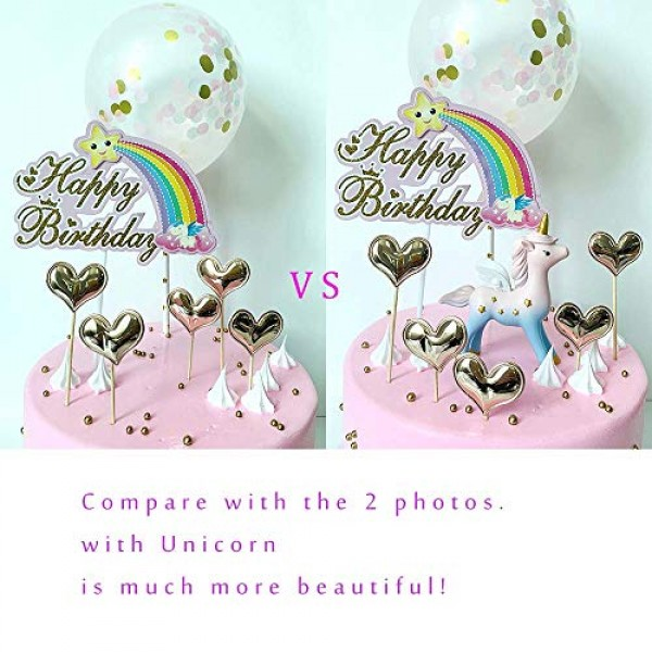 DeMissir Pack of 8 Happy Birthday Cake Toppers,Reusable Resin Pi...