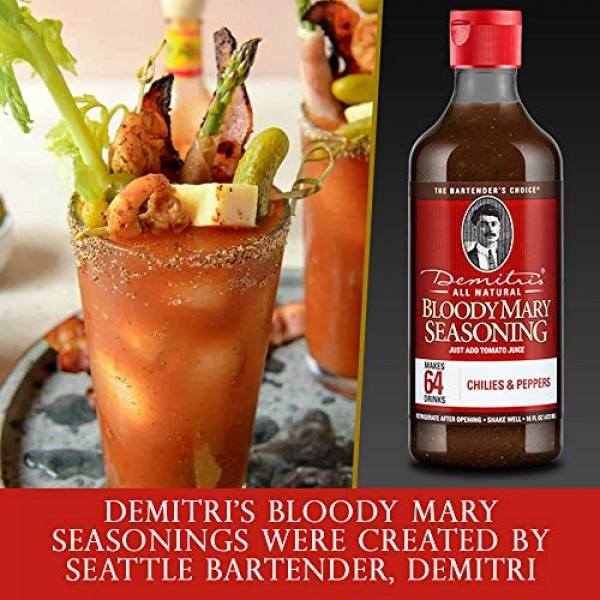 Demitris Bloody Mary Mix Seasoning All Natural - Classic Recipe ...