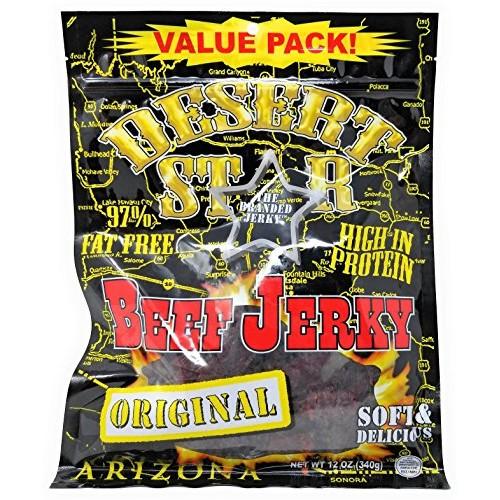 Desert Star ORIGINAL Beef Jerky 80 Calorie HUGE 12 Ounce Value Pack