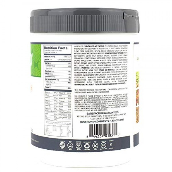 Designer Plant Vegan Meal Replacement Protein Powder, Belgian Ch...