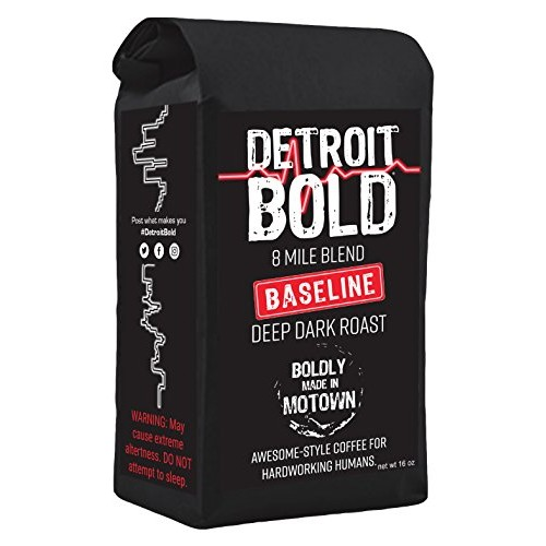 8 Mile Baseline Coffee - Dark Roast - Whole Bean - 16 Ounce Bag ...